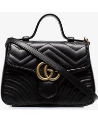 Gucci Mini GG Marmont Bag - Black