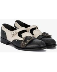 Gucci Queercore Mary Jane Monk Shoes - Black