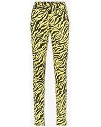 Gucci Tiger Stripe Cotton Blend Skinny Jeans - Multicolor