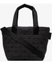 VeeCollective Coal Vee Small Reflective Tote Bag - Black