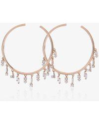 Suzanne Kalan - Diamond Hoop Earrings - Lyst