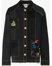 BETHANY WILLIAMS X The Magpie Project Patchwork Recycled Denim Jacket - Black