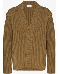 Ferragamo Chunky Ribbed Knit Cardigan - Green