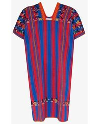 Pippa Holt No.132 Embroidered Striped Cotton Kaftan