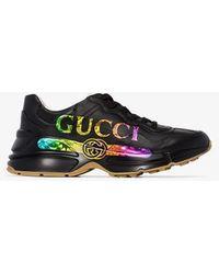 Gucci Rhyton Logo Trainers - Black
