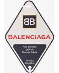 Balenciaga - Bronze Double B Engraved Badge - Lyst