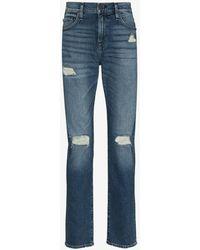 True Religion Rocco Slim Leg Distressed Jeans - Blue