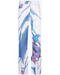 NOUNION Makai Turn-up Jeans - Blue