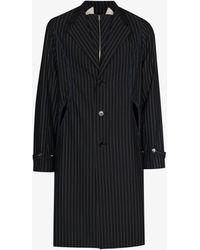 Kiko Kostadinov Freydal Striped Wool Coat - Blue