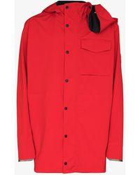 Y. Project X Canada Goose Nanaimo Rain Jacket - - Elastane/polyamide/polyester - Red