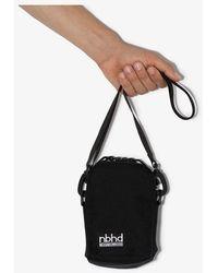 Neighborhood Black Logo Patch Cross Body Bag