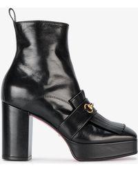 Gucci - Novel Platform Horsebit Boots - Lyst