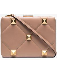 Valentino Garavani - Roman Stud Leather Clutch Bag - Lyst