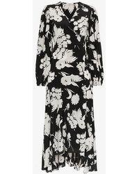 fd3de4b1 Ganni Kochhar Print Long Dress in Black - Save 57% - Lyst