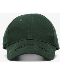 Balenciaga - Green Embroidered Logo Cap - Lyst