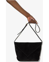 Khaite Maude Suede Cross Body Bag - Black