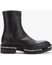 Alexander Wang Sandford 55 Leather Chelsea Boots - Black