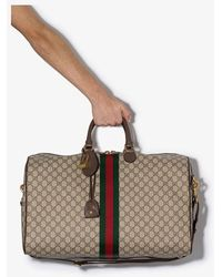 Gucci Ophidia GG Canvas Duffle Bag - Brown