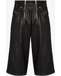 GmbH Amir Vegan Leather Shorts - Black
