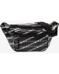 7b110fb84 Balenciaga - Black Explorer Logo Leather Belt Bag - Lyst