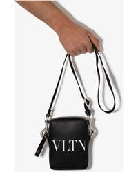 Valentino Garavani Cross Body Leather Bag - Black