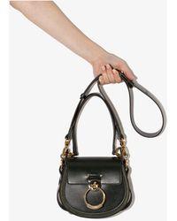 Chloé Tess Small Leather Cross Body Bag - Green