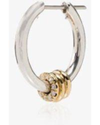 Spinelli Kilcollin 18k Yellow Gold And Sterling Silver Ara Pavé Diamond Hoop Earrings - Metallic