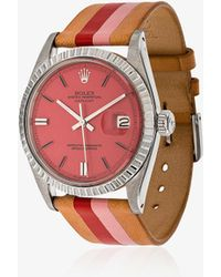 La Californienne - Fraise Peony Rolex Oyster Perpetual Datejust Leather Watch - Lyst