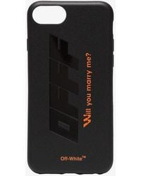Off-White c/o Virgil Abloh Black And Orange Quote Print Iphone 8 Pvc Phone Case