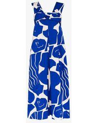 Issey Miyake Cuddle Print Jumpsuit - Blue