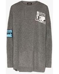 Raf Simons Oversized Merino Wool Jumper - Grey