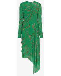 Preen By Thornton Bregazzi - Teresa Micro Pleat Floral Print Dress - Lyst