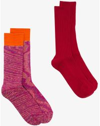 Anonymous Ism Multicoloured Knitted Socks Set - Multicolor