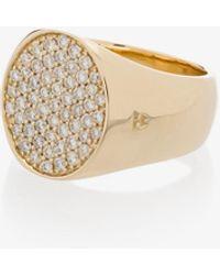 Tom Wood 9k Yellow Pinkie Oval Diamond Ring - - Diamond/9kt - Metallic