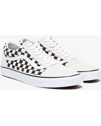 Vans - Black And White Checkerboard Old Skool Trainers - Lyst