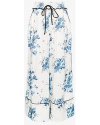 Off-White c/o Virgil Abloh - X Browns Floral Print Wide-leg Pyjama Trousers - Lyst