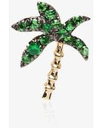 Yvonne Léon 18k Yellow Gold Palm Tree Tsavorite Earring - Metallic