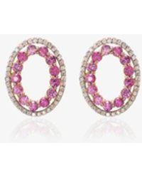 Mateo 14k Yellow Gold Sapphire Earrings - Metallic