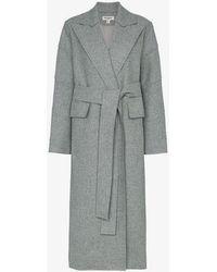 Matériel Long Coat With Belt Fastening - Grey