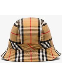 Burberry Checked Cotton-canvas Bucket Hat - Multicolour