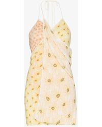 Jacquemus La Robe Boca Floral Print Dress - Yellow