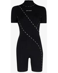 Palm Angels Techno Fabric Logo Jumpsuit - Black