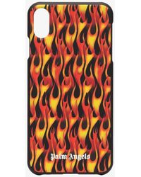 Palm Angels Flames Iphone Xr Case - Black