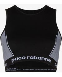 Paco Rabanne - Logo-stamped Seamless Sports Bra - Lyst