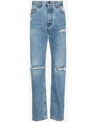 Gucci Distressed Loose Jeans - Blue