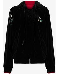 adidas X Angel Chen Reversible Embroidered Bomber Jacket - Black