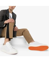 Santoni Perforated Low Top Trainers - White