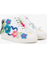 Natasha Zinko - Floral Bead Embellished Trainers - Lyst