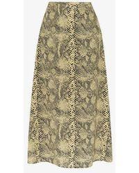 Sandy Liang - Snake Print Silk Skirt - Lyst