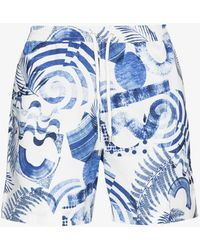 Sunspel Isle Of Wight Printed Swim Shorts - White